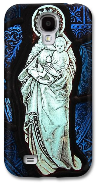 Religious Glass Art Galaxy S4 Cases - Madonna and Child Galaxy S4 Case by Gilroy Stained Glass