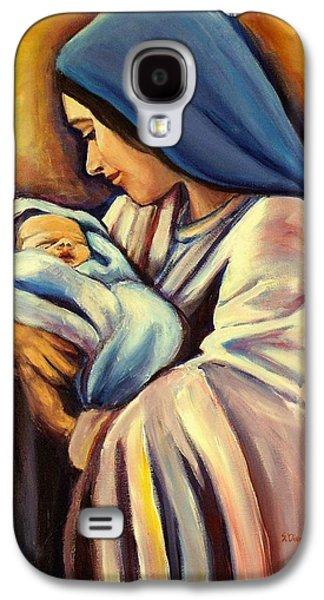 Jesus With Children Galaxy S4 Cases - Madonna and Child Galaxy S4 Case by Sheila Diemert