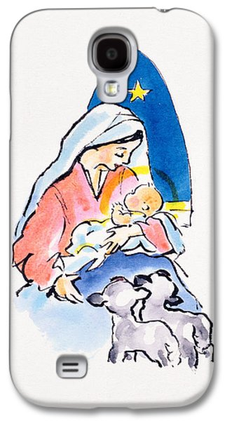 Madonna And Child With Lambs, 1996  Galaxy S4 Case by Diane Matthes