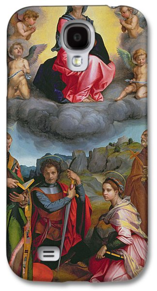 Catherine Galaxy S4 Cases - Madonna in Glory with Four Saints Galaxy S4 Case by Andrea del Sarto