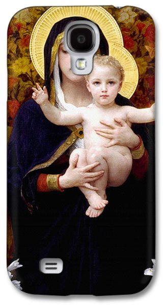 Mother Mary Digital Art Galaxy S4 Cases - Madonna of lilies Galaxy S4 Case by Bouguereau