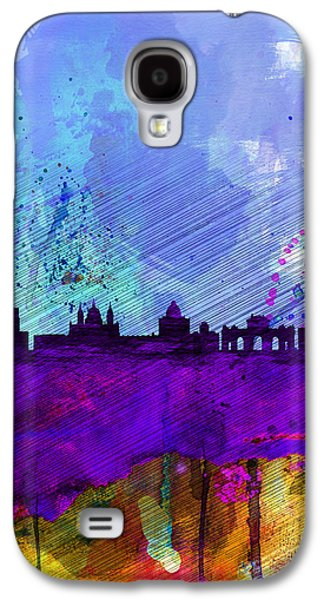 Capital Galaxy S4 Cases - Madrid Watercolor Skyline Galaxy S4 Case by Naxart Studio