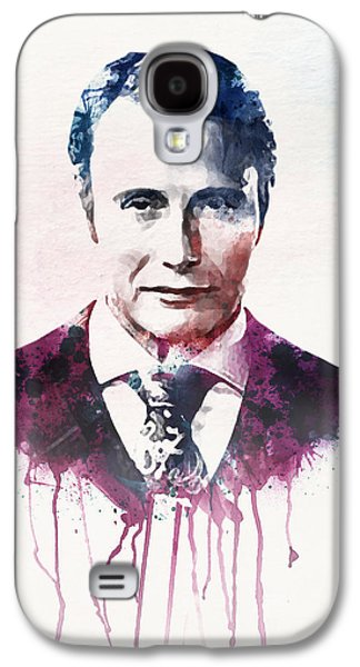 """""""square """" Mixed Media Galaxy S4 Cases - Mads Mikkelsen watercolor Galaxy S4 Case by Marian Voicu"""