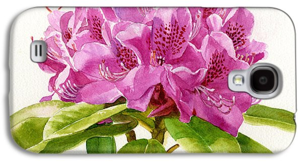 Rhododendron Galaxy S4 Cases - Magenta Colored Rhododendron Square Design Galaxy S4 Case by Sharon Freeman