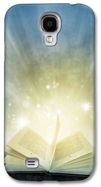 Concept Photographs Galaxy S4 Cases - Magic book Galaxy S4 Case by Les Cunliffe