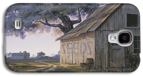 Old Barns Galaxy S4 Cases - Magic Hour Galaxy S4 Case by Michael Humphries