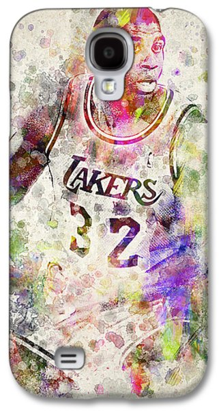 Nba Galaxy S4 Cases - Magic Johnson Galaxy S4 Case by Aged Pixel