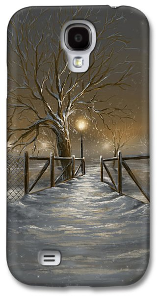 Winter Prints Galaxy S4 Cases - Magic night Galaxy S4 Case by Veronica Minozzi