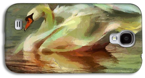 Recently Sold -  - Abstract Digital Paintings Galaxy S4 Cases - Magic swan Galaxy S4 Case by Georgi Dimitrov