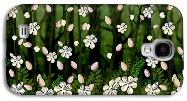 Garden Scene Mixed Media Galaxy S4 Cases - Magical Blooms of the Deep Forest Galaxy S4 Case by Bedros Awak