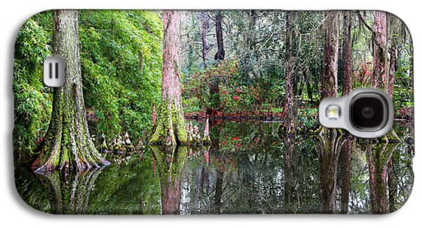 Cypress Swamp Galaxy S4 Cases - Magical Cypress Swamp Galaxy S4 Case by Carol Groenen
