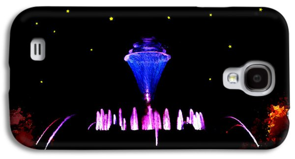 Constellations Paintings Galaxy S4 Cases - Magical Fountain Galaxy S4 Case by Bruce Nutting