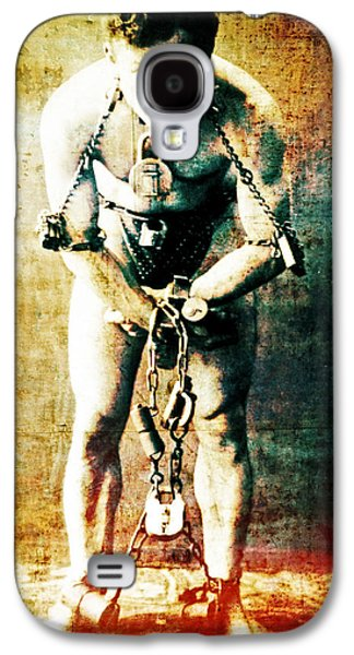 Magician Photographs Galaxy S4 Cases - Magician Harry Houdini in Chains   Galaxy S4 Case by The  Vault - Jennifer Rondinelli Reilly