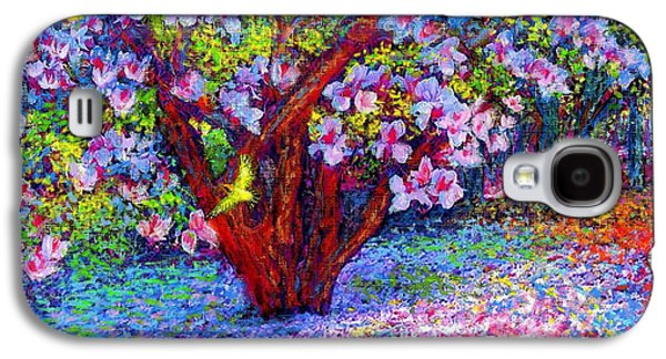 Field Paintings Galaxy S4 Cases - Magnolia Melody Galaxy S4 Case by Jane Small