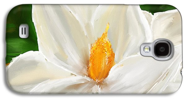 Colorful Abstract Galaxy S4 Cases - Magnolias Elegance- Magnolia Paintings Galaxy S4 Case by Lourry Legarde