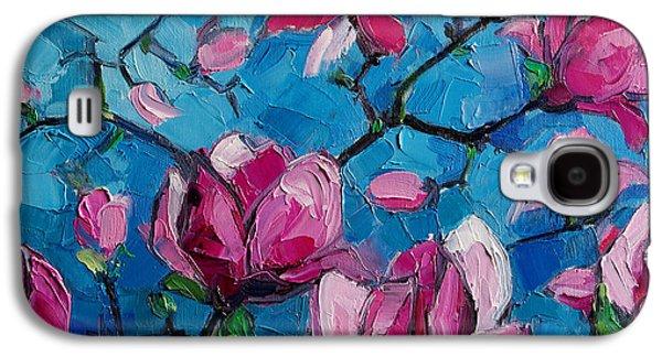 Green Galaxy S4 Cases - Magnolias For Ever Galaxy S4 Case by Mona Edulesco