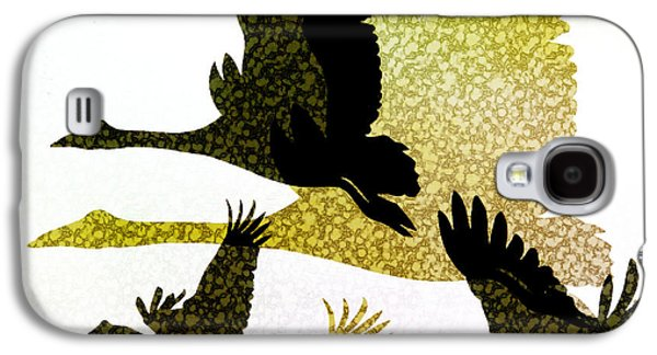 Magpie Geese In Flight Galaxy S4 Case by Holly Kempe