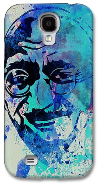 Mahatma Gandhi Watercolor Galaxy S4 Case by Naxart Studio