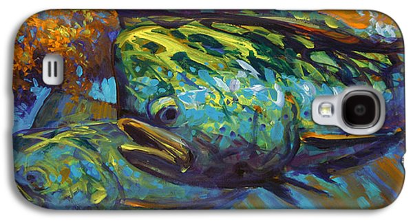 Sportfishing Galaxy S4 Cases - Mahi At Sunset Galaxy S4 Case by Mike Savlen