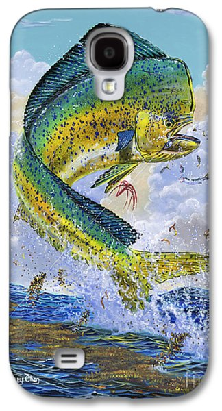 Wahoo Galaxy S4 Cases - Mahi Hookup Off0020 Galaxy S4 Case by Carey Chen