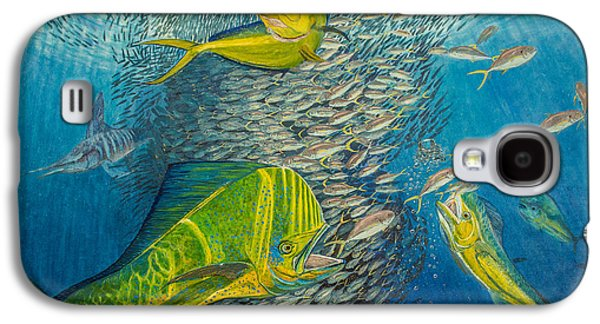 Striped Marlin Galaxy S4 Cases - Mahi Mahi original oil painting 24x30in Galaxy S4 Case by Manuel Lopez