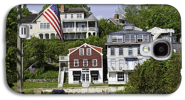 Maine Roads Galaxy S4 Cases - Main Street in Rockport Maine Galaxy S4 Case by Keith Webber Jr
