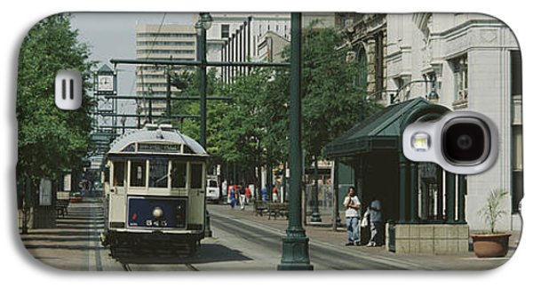 Tn Galaxy S4 Cases - Main Street Trolley Court Square Galaxy S4 Case by Panoramic Images