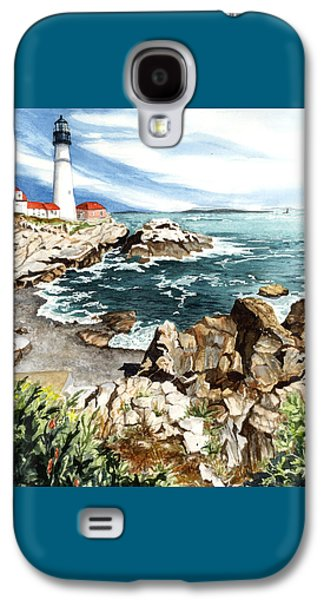 Maine Lighthouses Galaxy S4 Cases - Maine Attraction Galaxy S4 Case by Barbara Jewell
