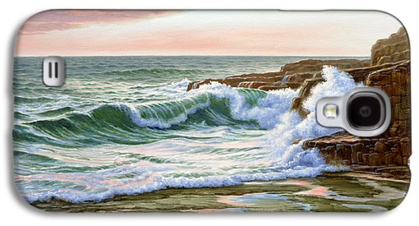 Maine Paintings Galaxy S4 Cases - Maine Coast Morning Galaxy S4 Case by Paul Krapf
