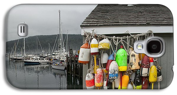 Bouys Galaxy S4 Cases - Maine Fishing Bouys and Harbor No. 028 Galaxy S4 Case by Randall Nyhof