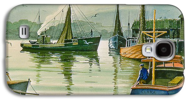 Harbor Paintings Galaxy S4 Cases - Maine Harbor Galaxy S4 Case by Paul Krapf