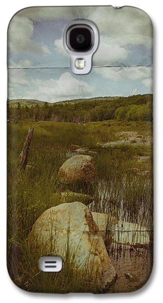 Maine Roads Galaxy S4 Cases - Maine Landscape Acadia National Park clouds Galaxy S4 Case by Andy Gimino