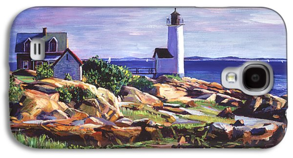 New England Lighthouse Paintings Galaxy S4 Cases - Maine Lighthouse Galaxy S4 Case by David Lloyd Glover