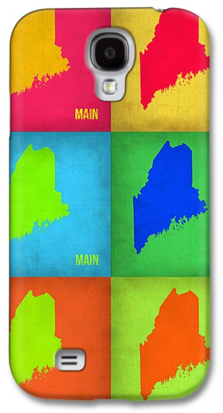 Maine Galaxy S4 Cases - Maine Pop Art Map 1 Galaxy S4 Case by Naxart Studio
