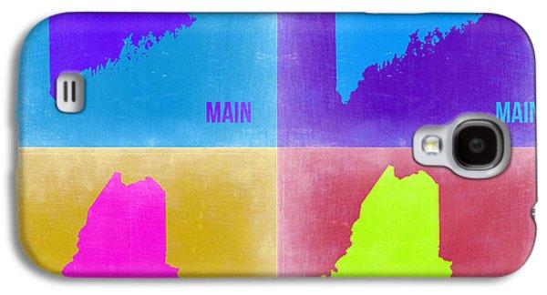 Maine Galaxy S4 Cases - Maine Pop Art Map 2 Galaxy S4 Case by Naxart Studio