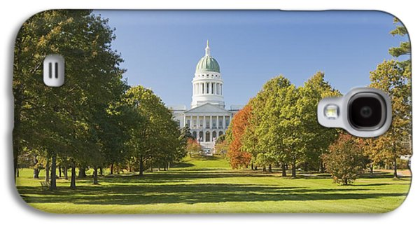 Maine Photographs Galaxy S4 Cases - Maine State Capitol Building and Park In Augusta Galaxy S4 Case by Keith Webber Jr