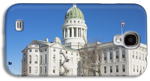 Maine Winter Galaxy S4 Cases - Maine State Capitol Building In Winter Augusta Galaxy S4 Case by Keith Webber Jr