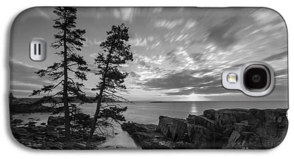 Surreal Landscape Galaxy S4 Cases - Maines Golden Sky Long Exposure Galaxy S4 Case by Michael Ver Sprill