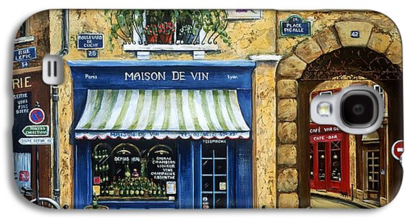 Street Paintings Galaxy S4 Cases - Maison De Vin Galaxy S4 Case by Marilyn Dunlap