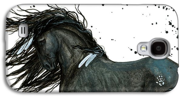 Majestic Friesian Horse 112 Galaxy S4 Case by AmyLyn Bihrle