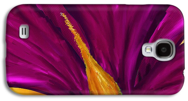Purple Art Galaxy S4 Cases - Majestic Magnolia- Magnolia Paintings Galaxy S4 Case by Lourry Legarde