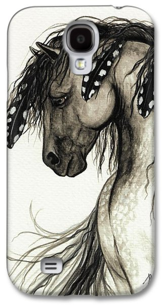 Wild Horse Paintings Galaxy S4 Cases - Majestic Mustang Horse Series #51 Galaxy S4 Case by AmyLyn Bihrle