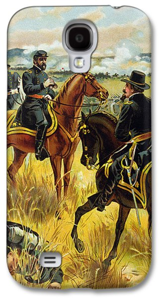Soldier Field Galaxy S4 Cases - Major General George Meade at the Battle of Gettysburg Galaxy S4 Case by Henry Alexander Ogden