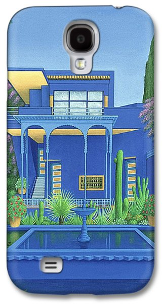 Moroccan Galaxy S4 Cases - Majorelle Gardens, Marrakech, 1996 Carylic On Linen See 186509 Galaxy S4 Case by Larry Smart