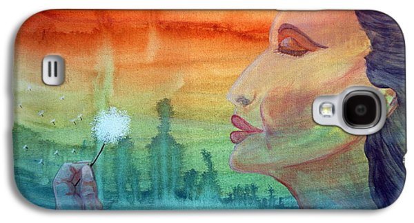 Sunset Abstract Galaxy S4 Cases - Make a Wish Galaxy S4 Case by Merrin Jeff