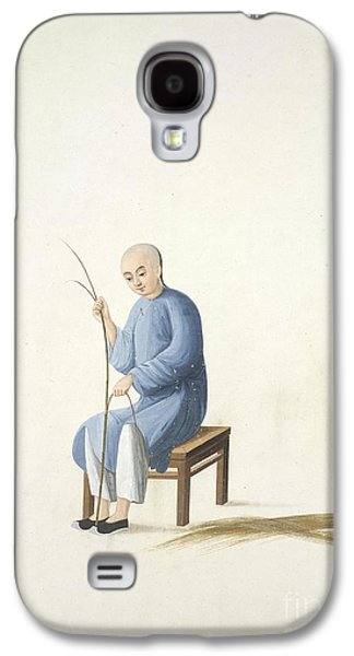 Matting Galaxy S4 Cases - Making Bamboo Mats, 19th-century China Galaxy S4 Case by British Library