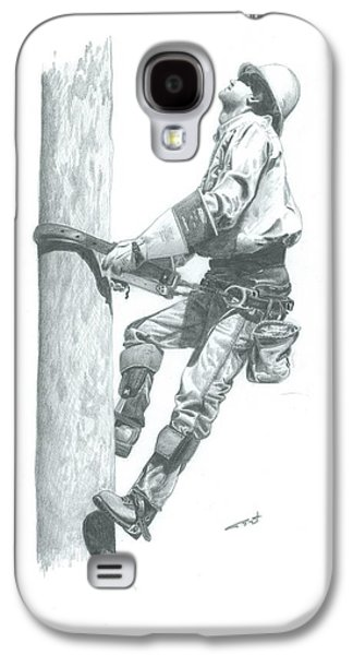 Pole Drawings Galaxy S4 Cases - Making The Climb Galaxy S4 Case by Brad Thyne