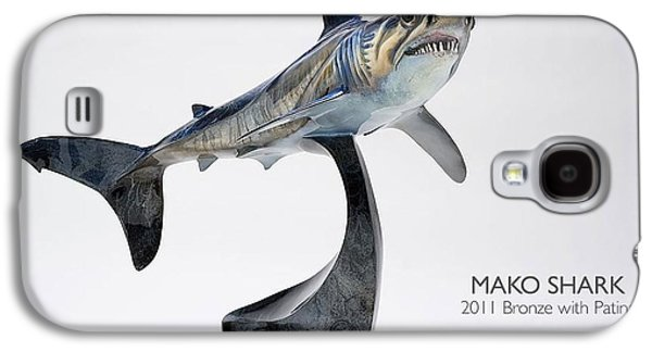 Sharks Sculptures Galaxy S4 Cases - Mako Shark Galaxy S4 Case by Victor Douieb