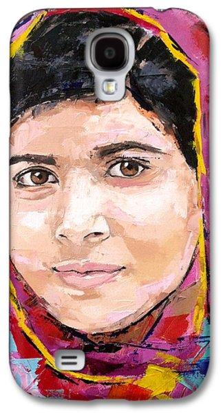 Education Paintings Galaxy S4 Cases - Malala Yousafzai Galaxy S4 Case by Richard Day