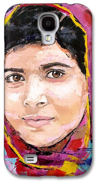 Activists Galaxy S4 Cases - Malala Yousafzai Galaxy S4 Case by Richard Day